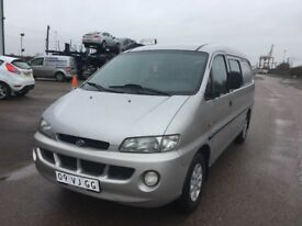LEFT HAND DRIVE HYUNDAI H200, AUTOMATIC,DRIVES WELL,GOOD LOAD SPACE,ENGINE & MECHANICS,PAPER SORTED.