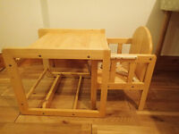 East Coast combination wooden high chair