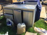 Stainless steel kitchen cupboard / catering unit