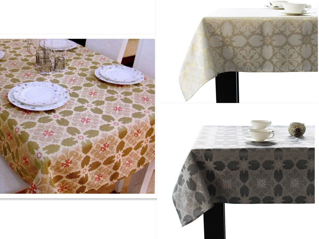 assorted sizes colors jacquard fabric tablecloths polyester
