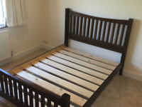 WARREN EVANS double size Solid Wood Bed frame, great condition