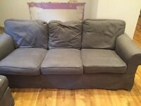For sale hardly used 3 seater ektorp Ikea sofa excellent condition