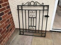 wrought iron gates pair for drive and one side gate