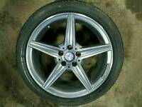 "GENUINE MERCEDES 18"" ALLOY WHEEL & TYRE 5X112 W205 C E R S CLASS CLK SLK CLS"