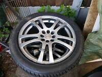17 inch alloy wheels. 255/45 R17. 3 set. 8 holes. Were on my Ford Focus.