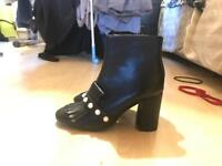 Size 5 primark black and pearl boots