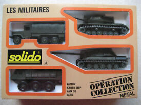 "SOLIDO / OPERATION COLLECTION ""A"" / PATTON, KAISER JEEP, AMX 30, ALVIS /DIECAST"