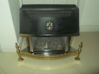 Lovely and Warm Valor Homeflame Gas Fire Wood flame effect Brass Used