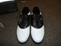 MENS DUNLOP GOLF SHOES BRAND NEW SIZE UK 13 PICK UP FROM GOSPORT MAY POST BUT COST £10. THE WEIGHT