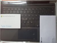 Microsoft Surface Pro 4 Type Cover. Never used. Perfect condition works with pro 4 or 3!
