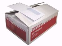 DL 120 x 210mm PLAIN WHITE OFFICE ENVELOPES ADHESIVE SEAL (Special Offer 500) 5 BOXES AVAIABLE