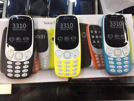 Nokia 3310 Brand new, dual sim available in 3 colours yellow/blue & black