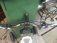 set of forks and set of double walled alloy wheels with zoom bars