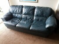 3 + 2 Italian Leather Settees
