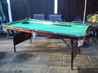 Snooker Table - 6ft5 x 3ft5 including edges