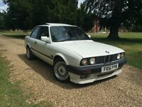 BMW E30 316 with 318is engine Coupe White mtech 2 rear bumper mtech1 spoiler
