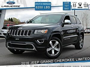 2016 Jeep Grand Cherokee LIMITED AWD **CUIR*GPS*CAM*20''*TOIT**