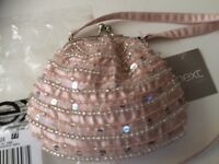 Brand new pink beaded bag from Next