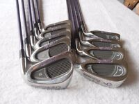 "Ladies PRECISION "" FLOWLINE "" 9 IRONS 3 / SW."