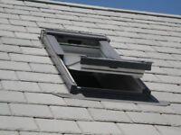 VELUX GGU CK06 0070 White Centre Pivot Window Laminated - 55cm x 118cm, GREY exterior
