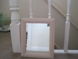 Medium sized Mirror with cream surround