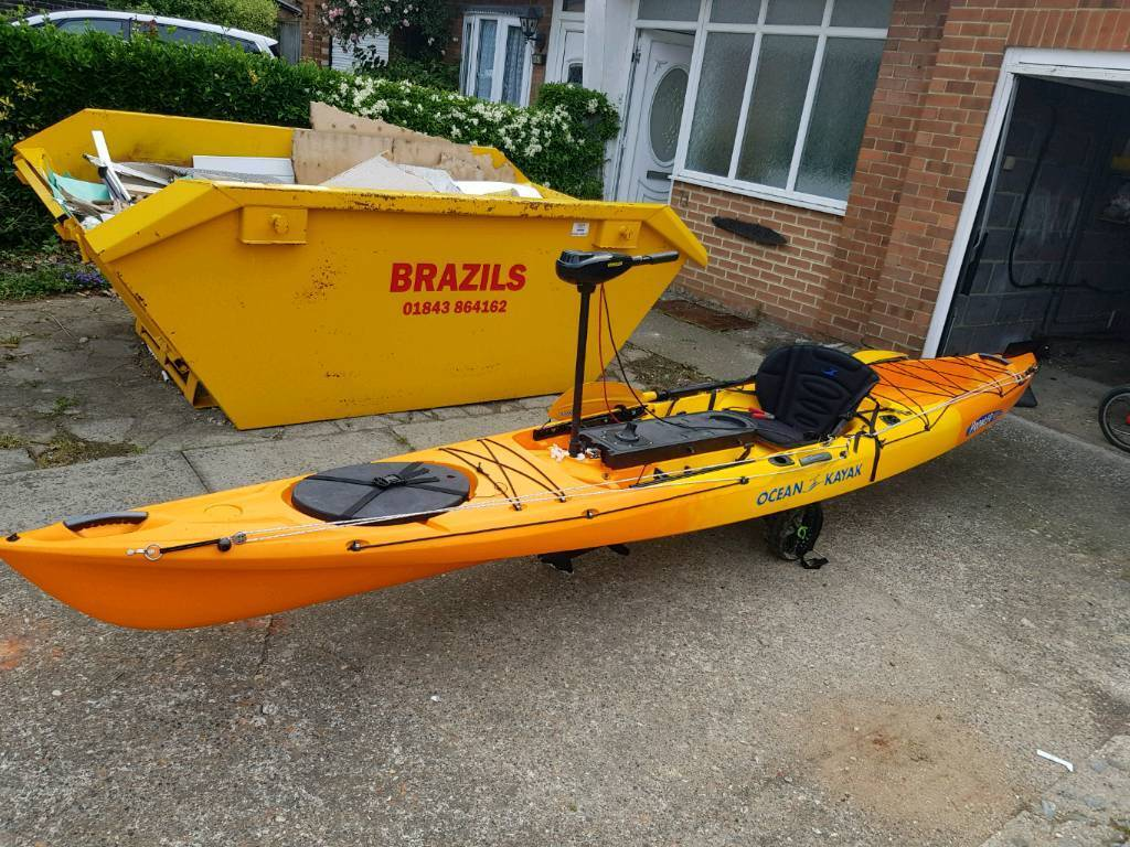 Ocean Kayak 4 7 Trolley Paddle And Optional Electric