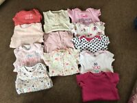 bundles of baby clothes 3-6 months