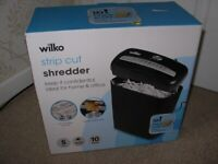 WILKO strip-cut shredder for security disposal of private information