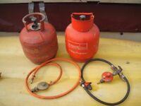 Propane bottles + hoses + connectors JOB LOT or SPLIT