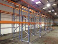 job lot 50 bays of dexion pallet racking 2.4 meters high as new( storage , industrial shelving )