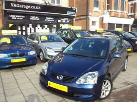 Honda Civic 1.6 i VTEC SE Executive 5dr AUTOMATIC LEATHER p/xwelcome Full Service History, Long MOT