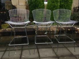 Vintage Harry Bertoia bar stools by Knoll International