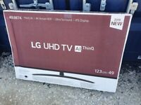 BRAND NEW BOXED LG 49 INCH 49UM7400 SMART 4K UHD HDR Smart TV with Freeview FREESAT HD