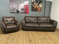 REAL LEATHER DESIGNER SOFA SET IN EXCELLENT CONDITION
