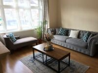 Chesterfeild Grey Sofa and Chaise lounger
