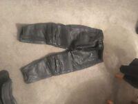 """Frank Thomas Motorbike Leather Trousers 54"""" Euro"""