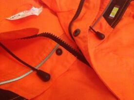 Hi-vis working ladies jacket & pants - size S