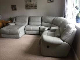 Sofaworks corner leather sofa
