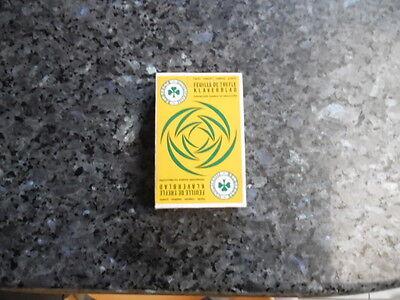 ancien jeu de carte publicitaire feuilles de trefle engrais composé ,granulé-