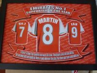 Arsenal Lap Tray personalised with the name Martin