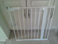 White Baby Stair Gate