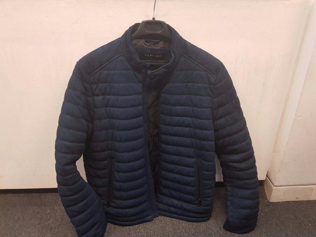 Navy Mens Zara Puffer Jacket Xl In Leytonstone London