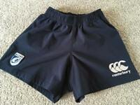 Canterbury Cardiff Blues boys rugby shorts size SB