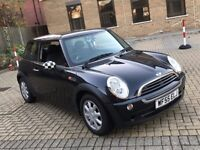 2005 MINI ONE 1.6 3 DOOR HATCHBACK PETROL MANUAL 4 SEAT LONG MOT BLACK NO GOLF 1 SERIES SMART COOPER