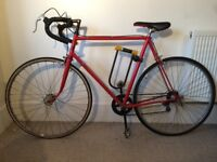 Red vintage racing bicycle. Bike in great condition.