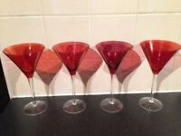 Cocktail glasses x 4
