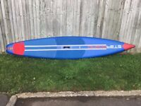 """Starboard """" 12' 6"""" Racer""""2017 inflatable stand-up paddle board, (Ex-display) in new condition"""