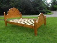 Chunky Pine Double Bed