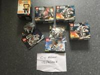 Lego starwars micro fighters & brickheadz
