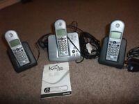 Philips kala 300 trio cordless phone wih answer phone